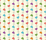 vector retro seamless pattern with colorful hearts