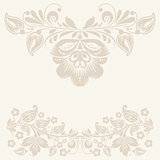 Vector Vintage background with roses