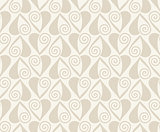 Vector Retro seamless pattern. Beige background