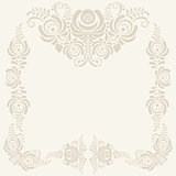 beige Floral pattern vector background