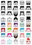 user avatars, vector people icon set