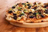 Pizza detail.