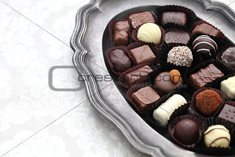 assortment of chocolate