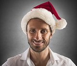 Santa claus businessman