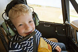kid in helicopter