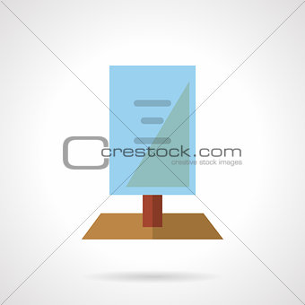 Flat color signboard vector icon