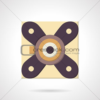Flat color support bearing vector icon