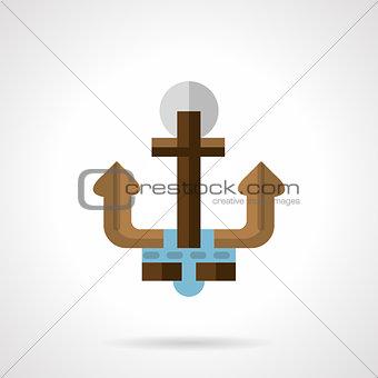 Flat color anchor vector icon