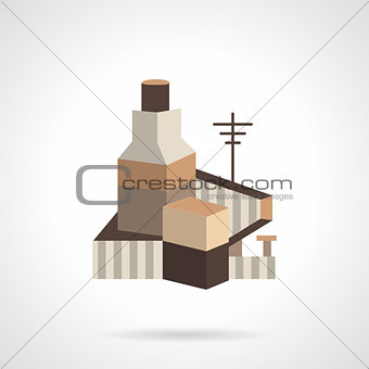 Cereal factory flat vector icon
