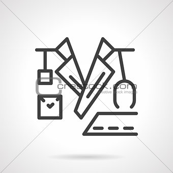 Black line doctor vector icon