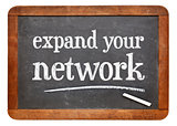 Expand your network advice on blackboard