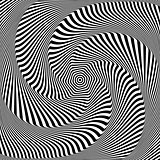 Optical illusion of torsion movement