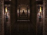 Medieval castle corridor