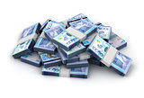 Stack of Kazakh Tenge