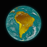 South America on planet Earth