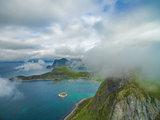 Clouds above Lofoten peaks