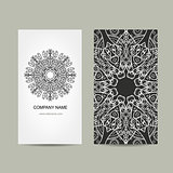 Business card design. Ornate background