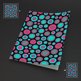 A4 business blank. Abstract background with color circles.
