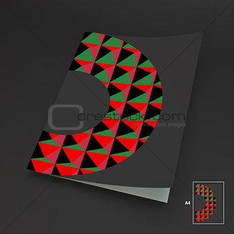 A4 Business Blank. Abstract Vector Illustration.