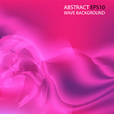 Pink smooth abstract wave background