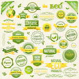 Collection Vector Organic Food, Eco, Bio Labels