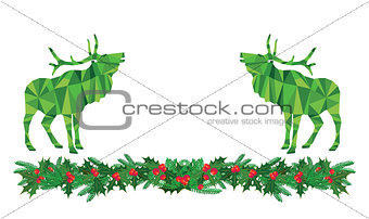 Green Christmas deer