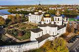 Aerial view on Holy Trinity Monastery. Tyumen