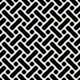 Vector Seamless Black And White Rounded Shape Pattern