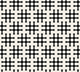 Vector Seamless Black And White Hashtag Pattern