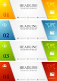 Abstract bright corporate banners