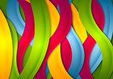 Abstract bright wavy stripes background
