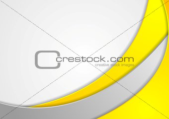Bright wavy corporate abstract design