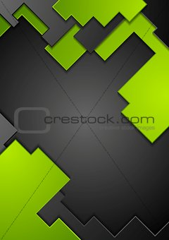 Green black contrast technology background