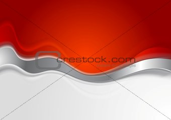 Bright background with metal wave