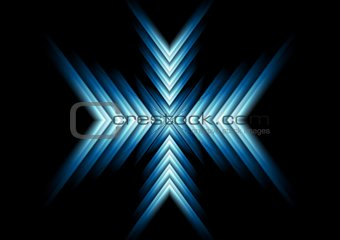 Abstract glow blue arrows design