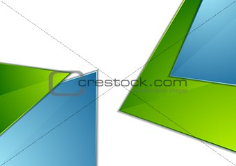 Abstract corporate geometric background