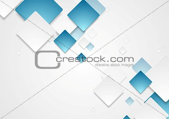 Abstract geometric tech paper squares design