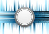 Blue technology background with grey circle