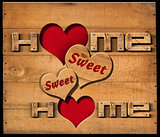 Home Sweet Home - Wooden Wall
