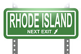 Rhode Island green sign board isolated