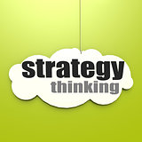 White cloud with strategy thinking