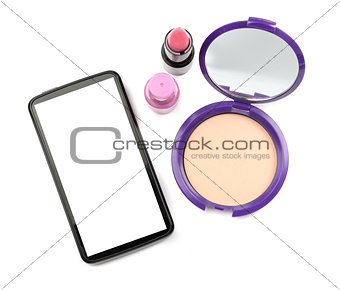 Smartphone with cosmetics