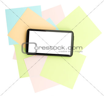 Smartphone on stickers