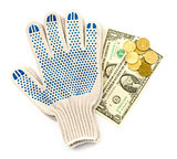 Gloves with cash