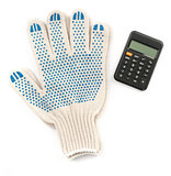 Gloves with calculator
