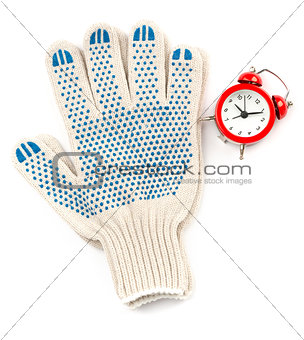 Gloves with alarm clock