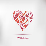 Handdrawn painted heart, vector element for your design