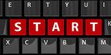 Computer keyboard start