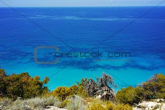Amazing panorama of Kokkinos Vrachos Beach, Lefkada
