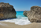 Blue Waters of Megali Petra Beach, Lefkada